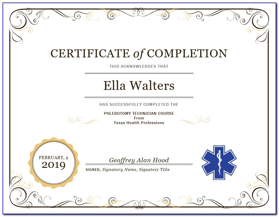 Phlebotomy Certification Texas Online