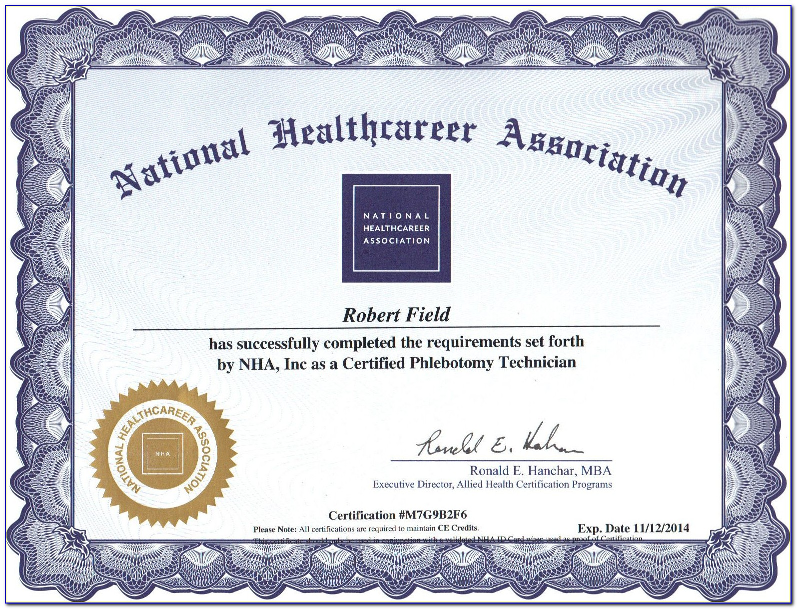 Phlebotomy License California Renewal