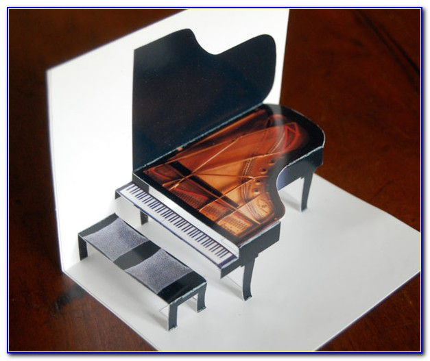 Piano Pop Up Card Template Pdf