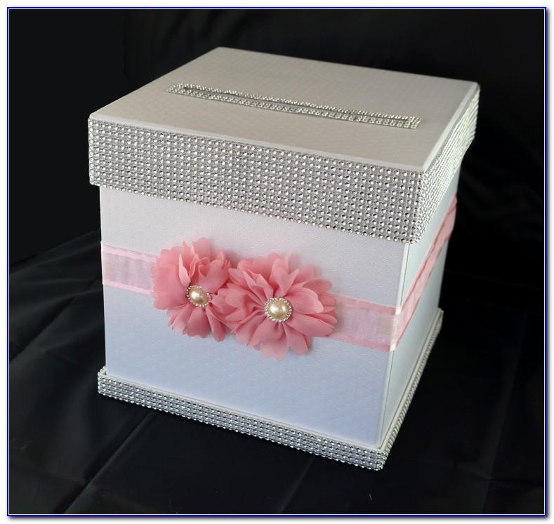 Pink Wedding Card Box Ideas