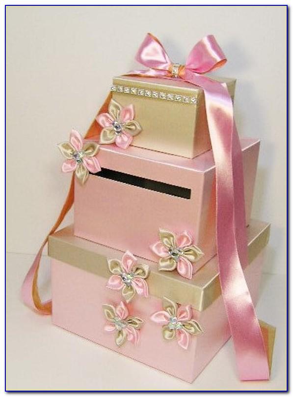 Pink Wedding Card Gift Box