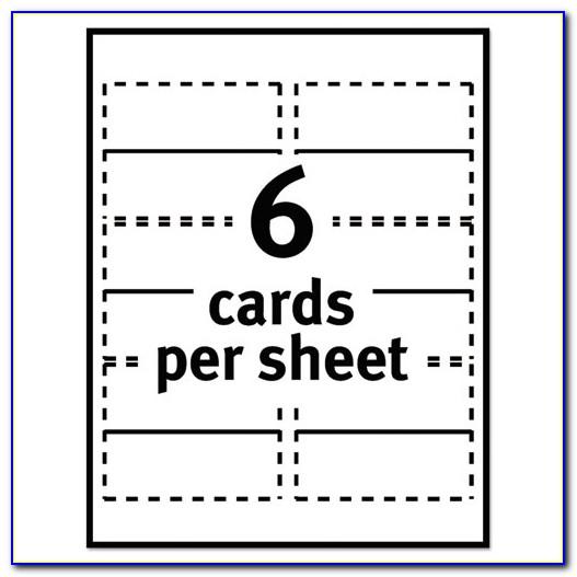 Place Card Templates 6 Per Sheet