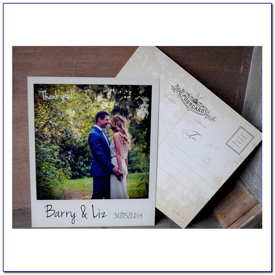 Polaroid Style Wedding Thank You Cards