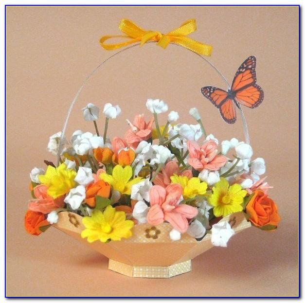 Pop Up Card Flower Basket Template