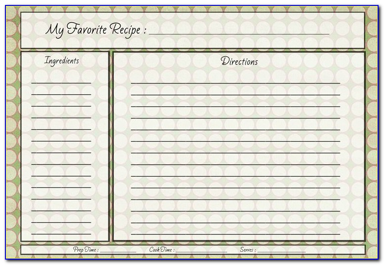 Printable 5x8 Index Card Template