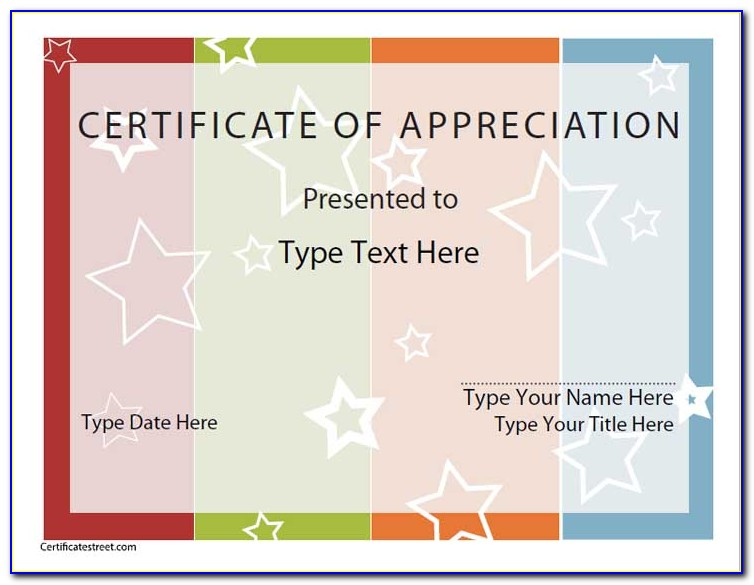 Printable Certificate Of Completion Pdf