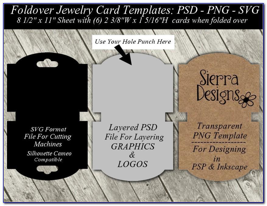 Printable Earring Card Template