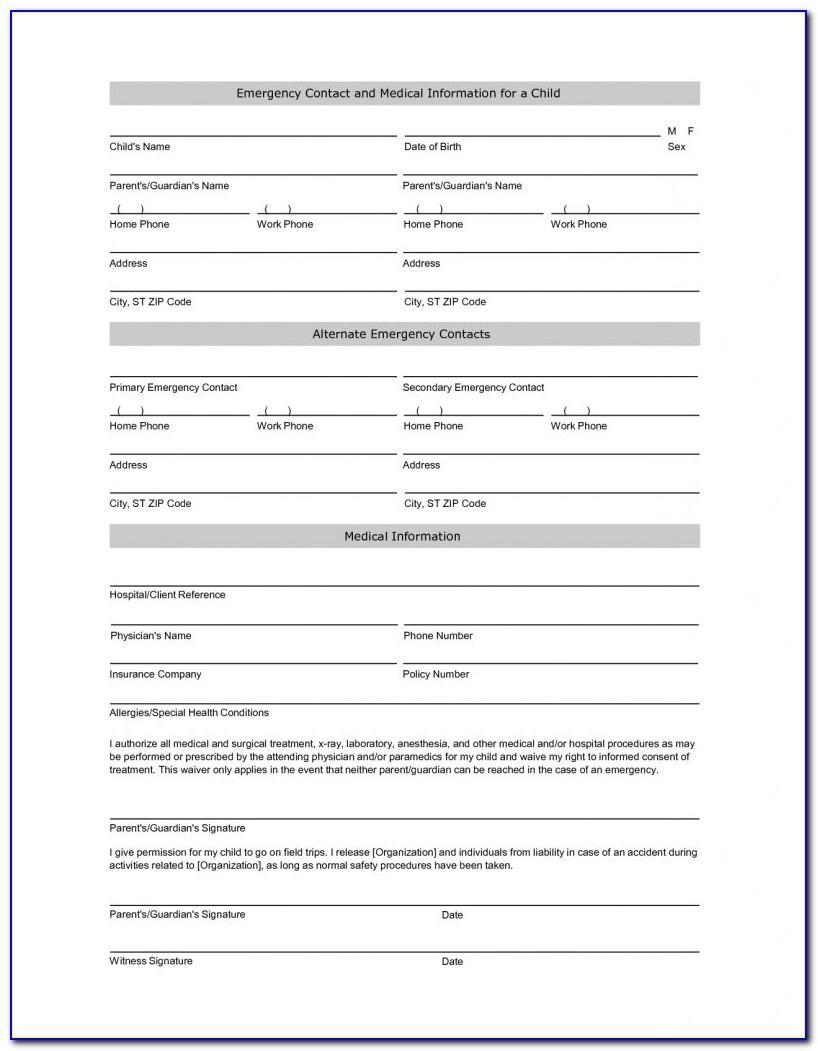 Printable Emergency Card Template Uk