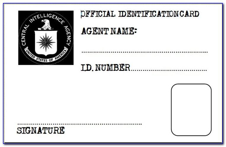 Printable Spy Id Cards