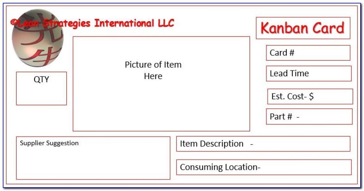 Production Kanban Card Template