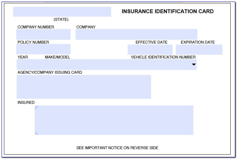Progressive Proof Of Insurance Card Template