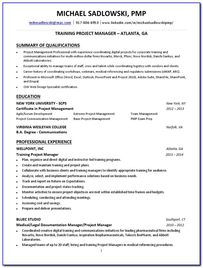 Project Management Certification Atlanta Georgia