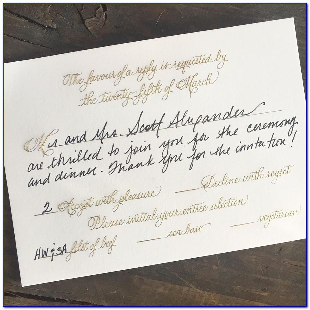 Proper Etiquette For Addressing Wedding Rsvp Cards