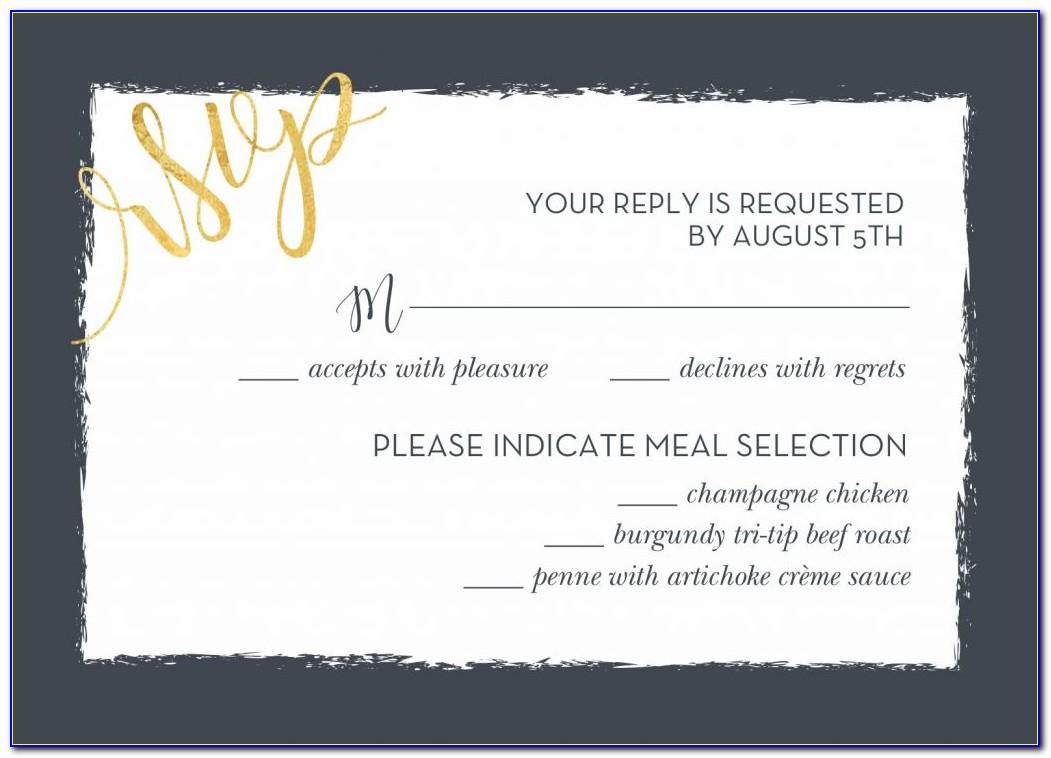 Proper Etiquette For Wedding Rsvp Cards