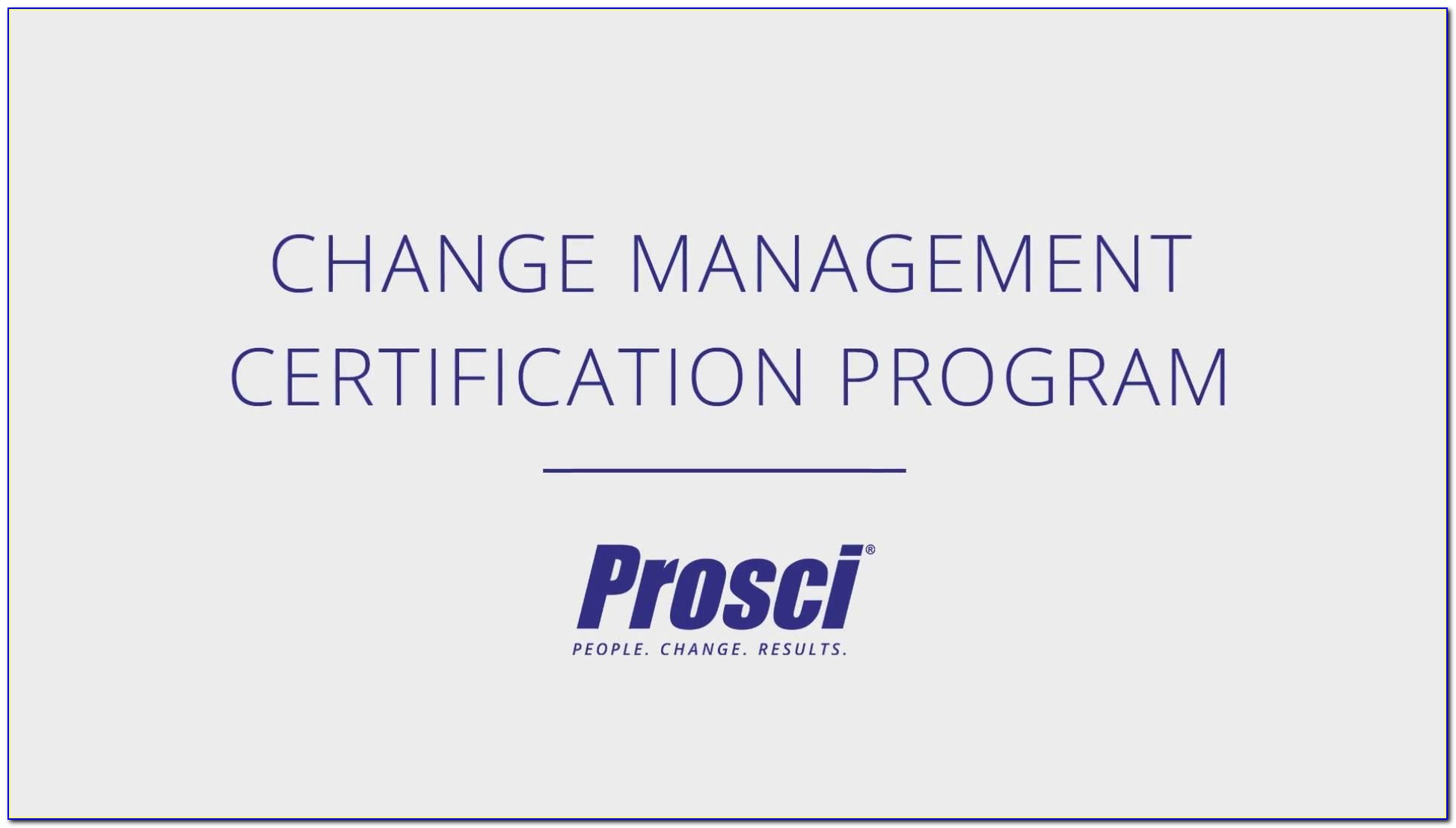 Prosci Change Management Certification Exam