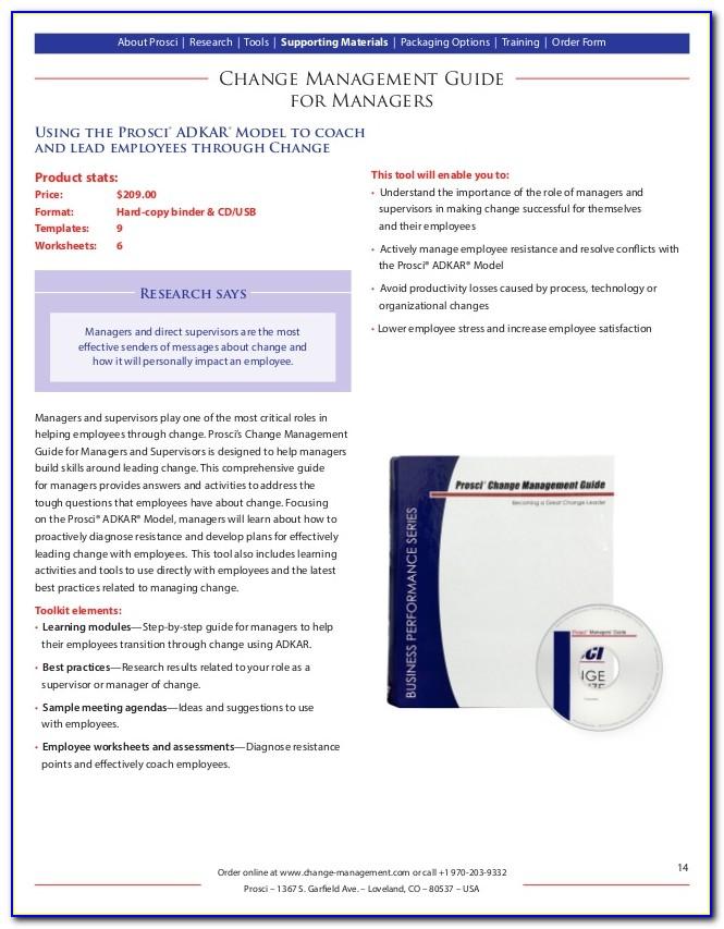 Prosci Change Management Certification Singapore