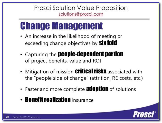 Prosci Change Management Certification Toronto
