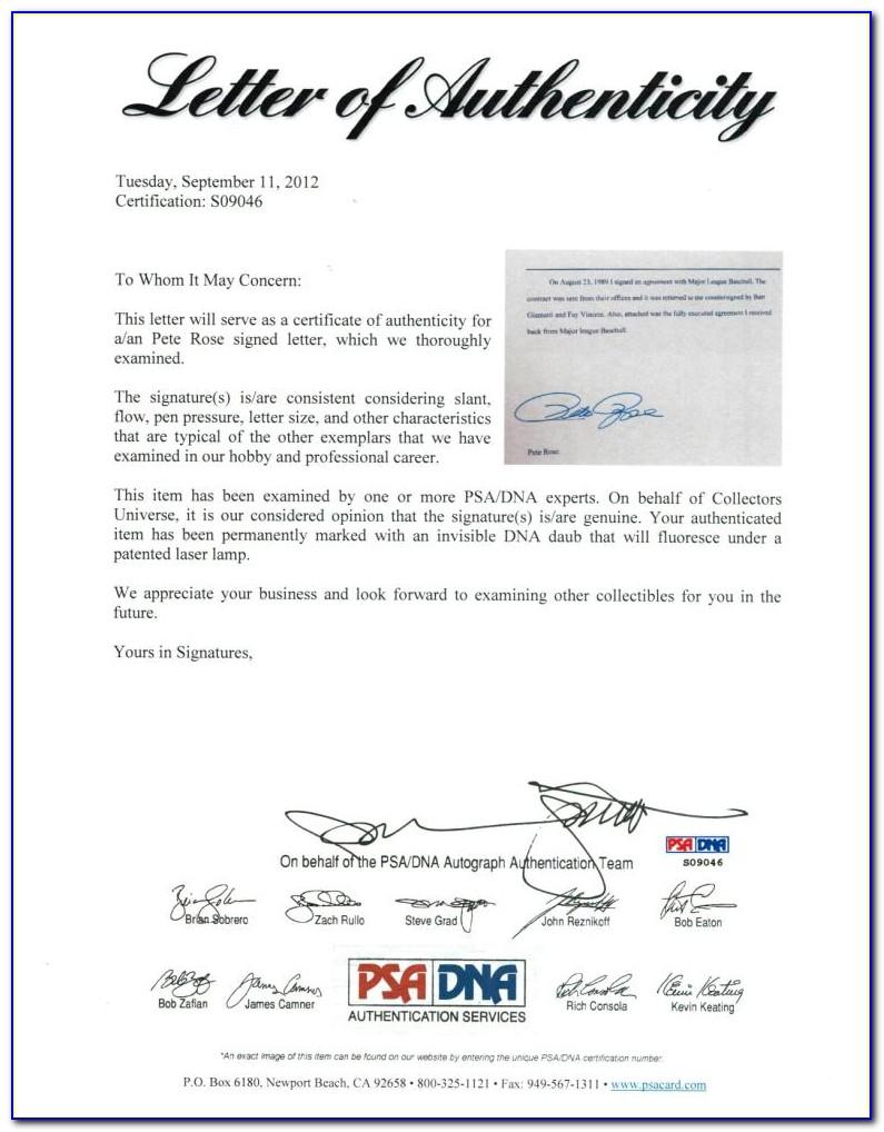 Psa Dna Certification Legit