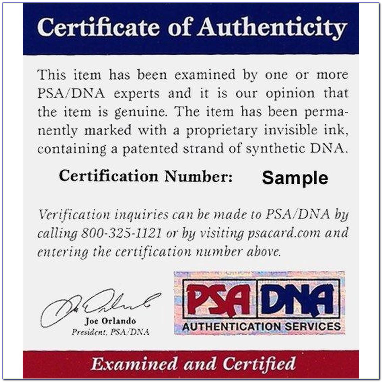 Psa Dna Certification Reviews