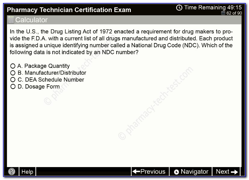 Ptcb National Certification Practice Test