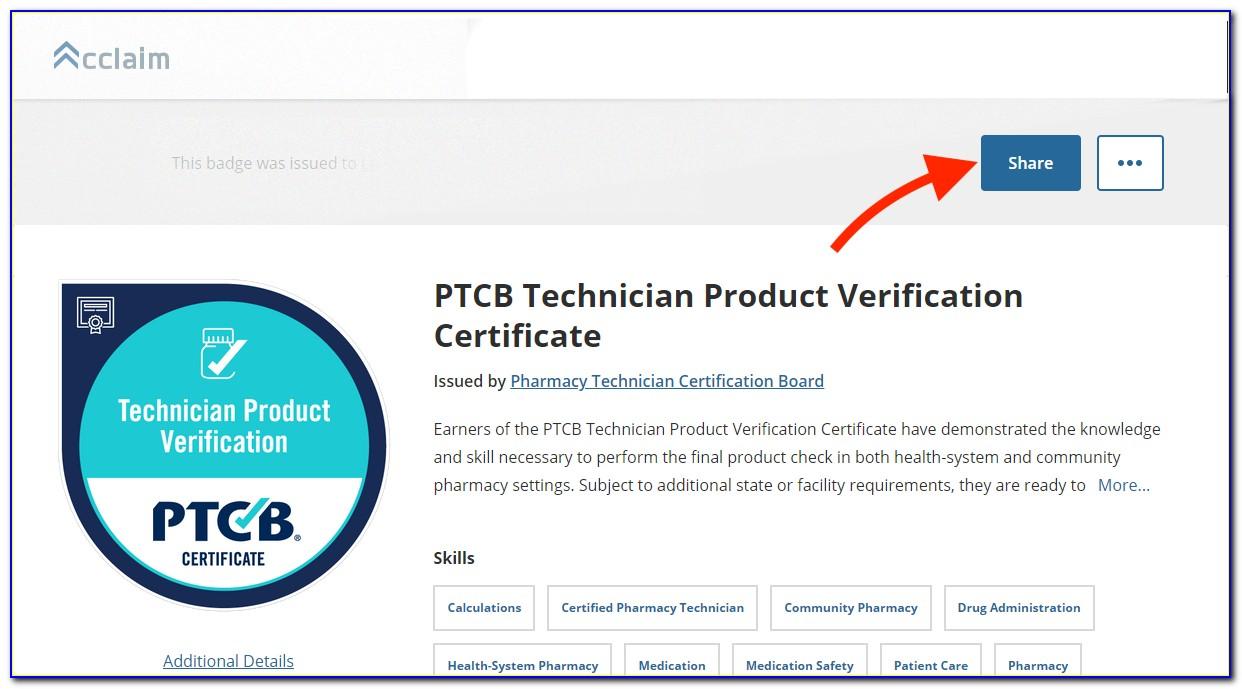 Ptcb Pharmacy Technician Certification Verification