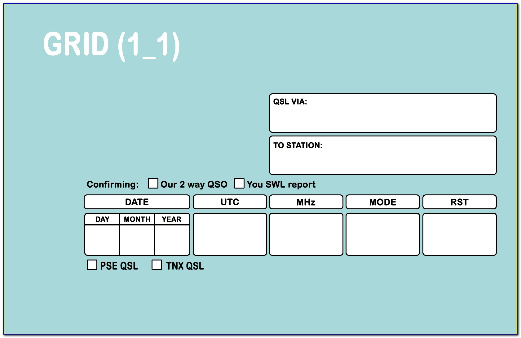 Qsl Card Templates For Word