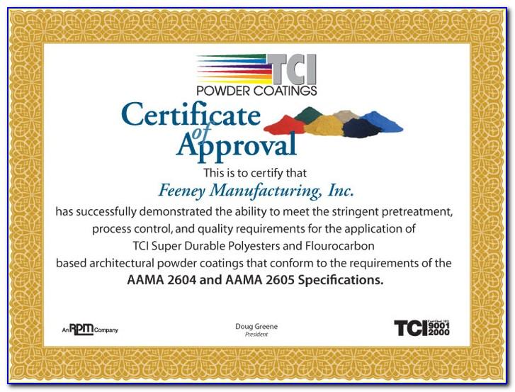 Quality Control & Testing Aama Certification Program