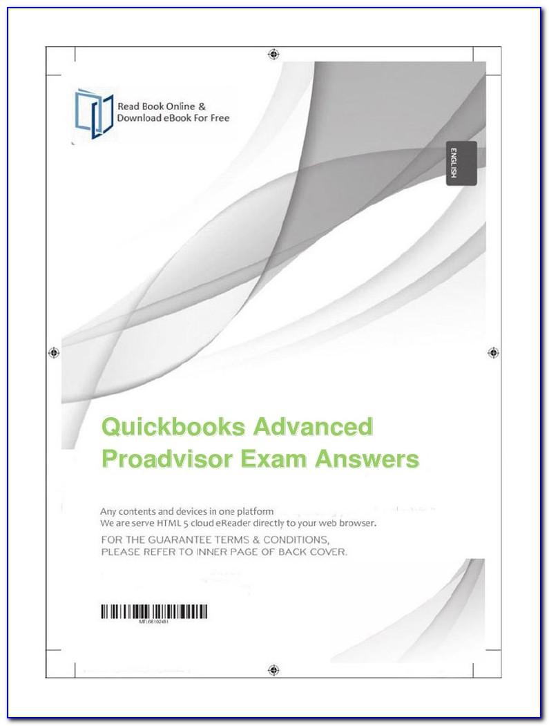 Quickbooks Proadvisor Certification Answers