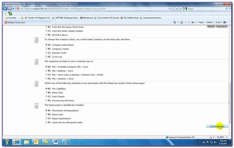 Quickbooks Proadvisor Certification Exam Answers