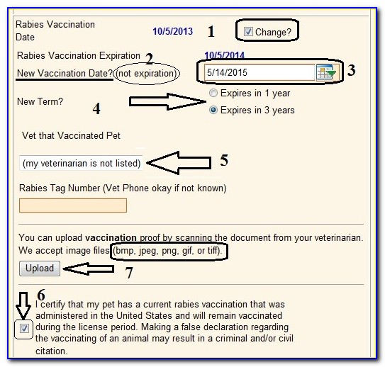 Rabies Vaccination Certificate Books