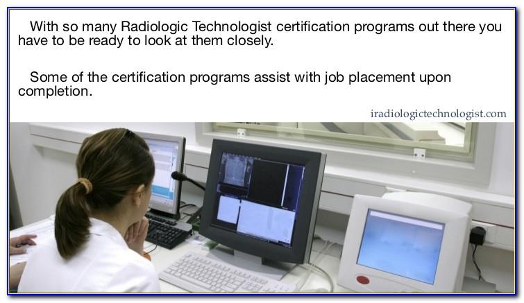 Radiologic Technologist Certification Online