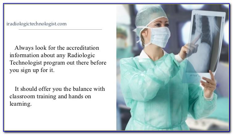 Radiologic Technologist Certification Program