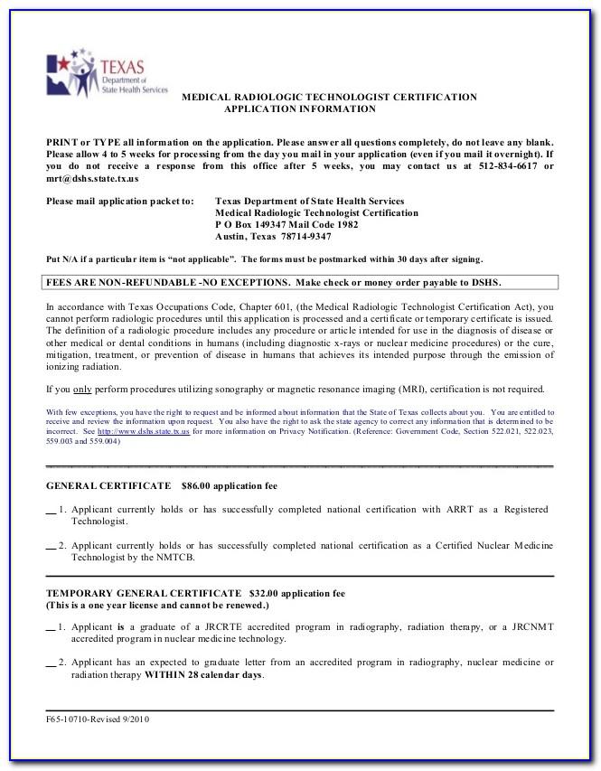 Radiologic Technologist Certification Texas