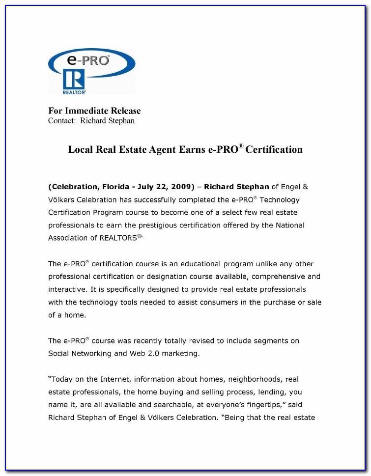 Real Estate Agent Certification California