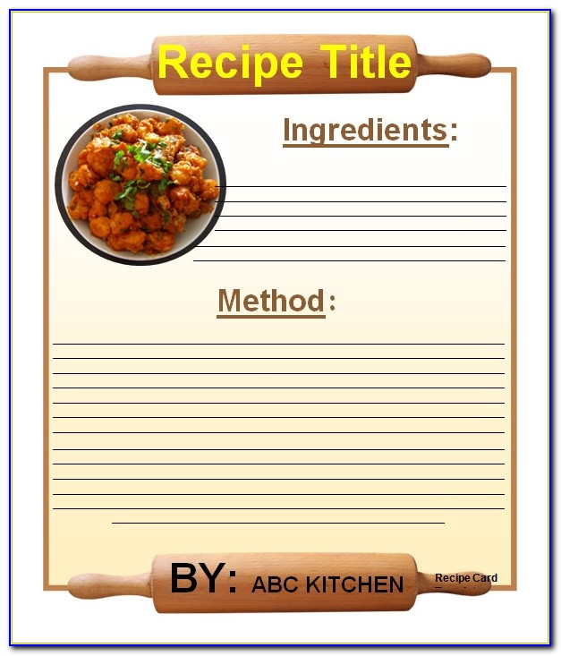 Recipe Card Template For Ipad Pages