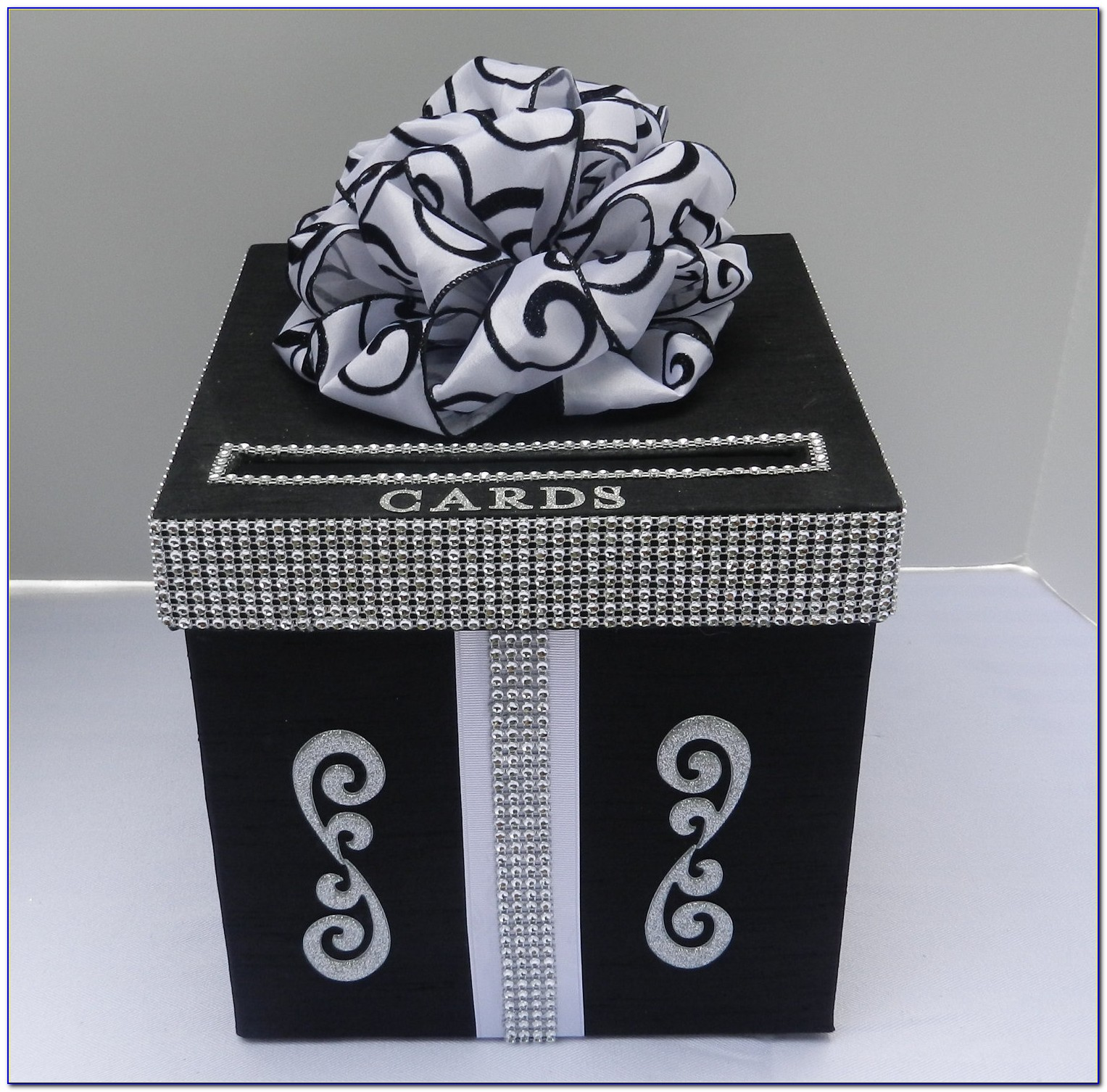 Red Black And White Wedding Card Box