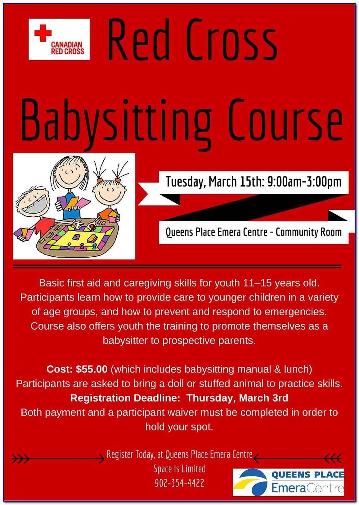 Red Cross Babysitter Certification