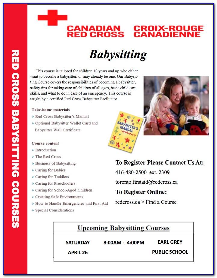 Red Cross Babysitting Class Mn