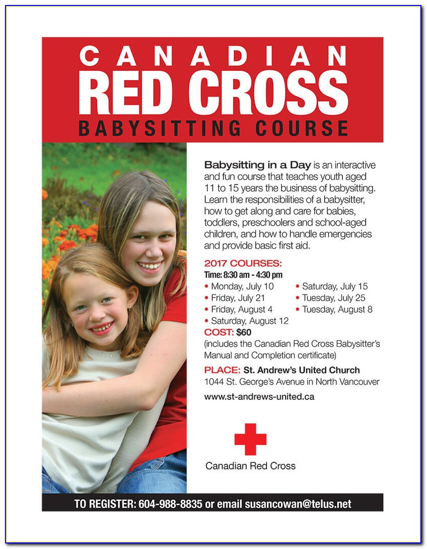 Red Cross Babysitting Class Online