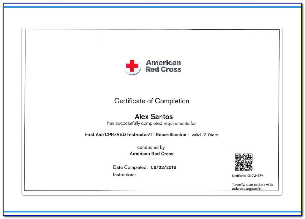 Red Cross Certification Check
