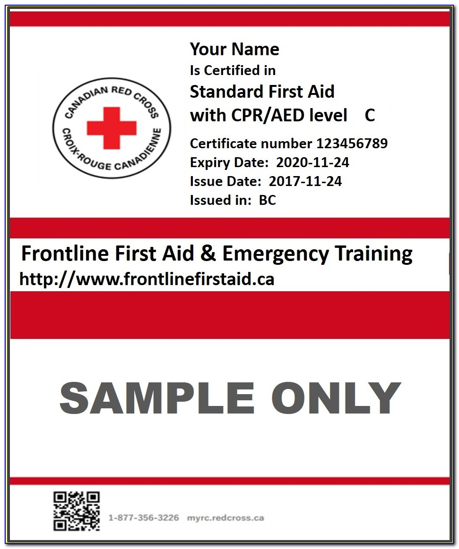 Red Cross Certification Lookup