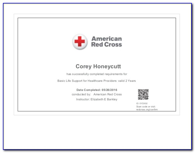 Red Cross Certification Search