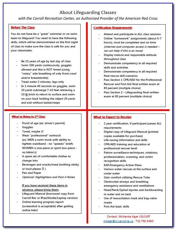 Red Cross Lifeguard Certification Test Near Me