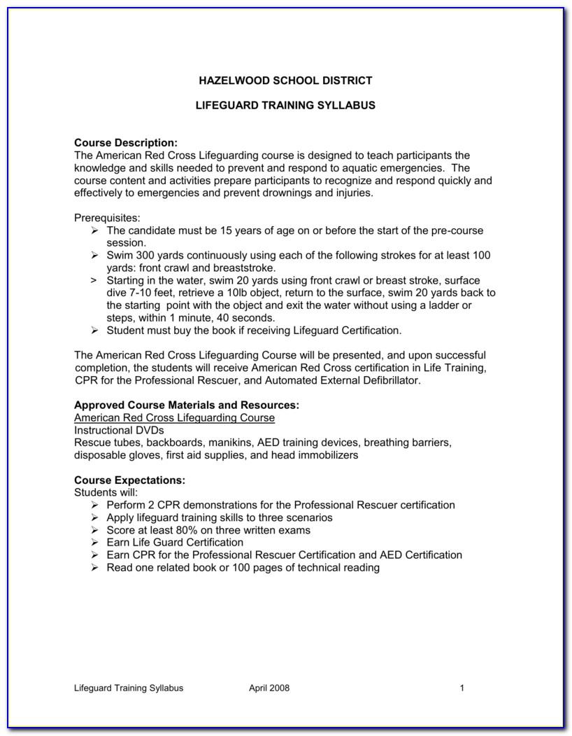 Red Cross Lifeguard Certification Test Questions