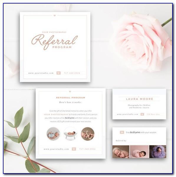 Referral Rewards Card Template