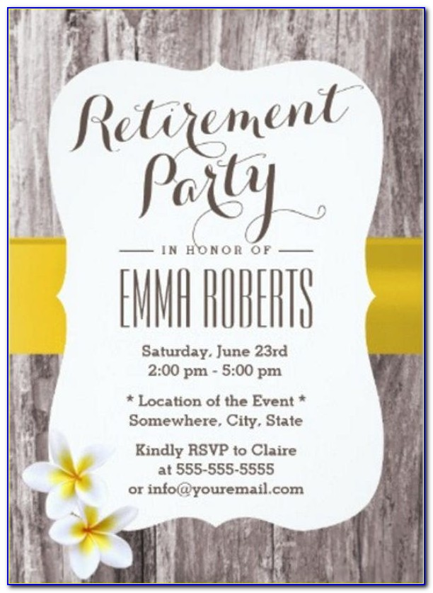 Retirement Party Card Template
