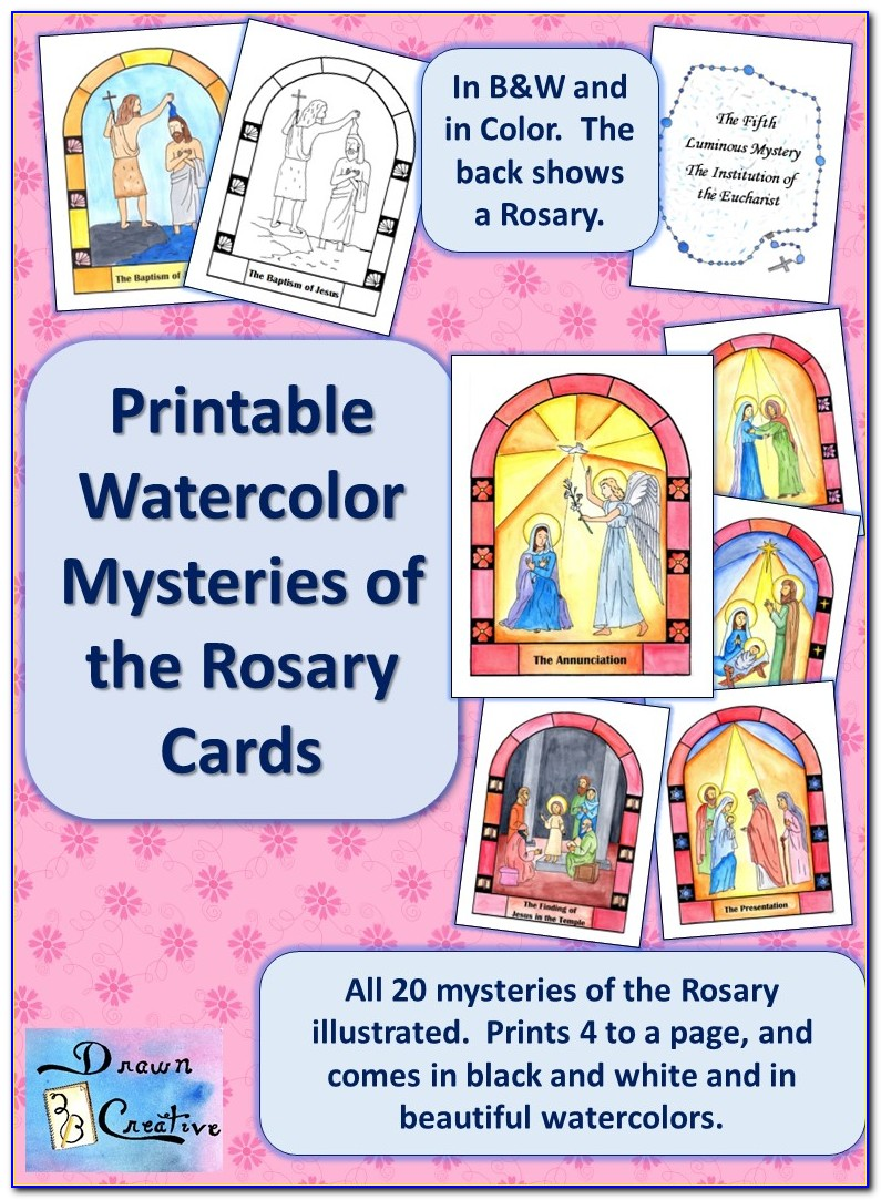 Rosary Cards Printable