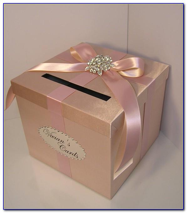 Rose Gold Wedding Card Holder
