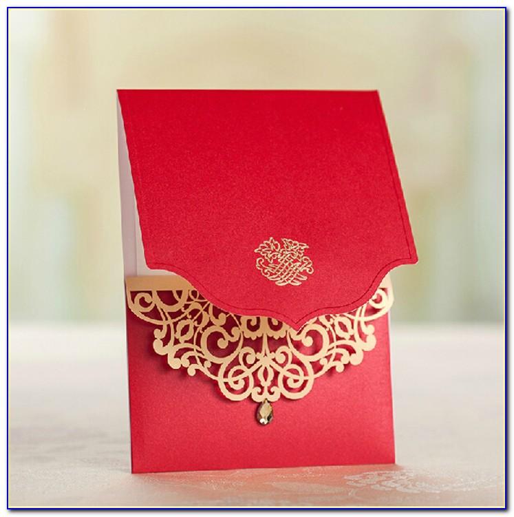Royal Blue Indian Wedding Invitations