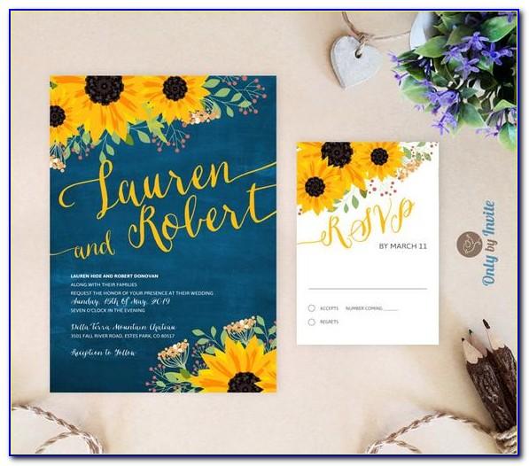 Rsvp Cards For Wedding Reception